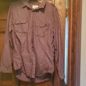 American Rag XL dark gray button down shirt
